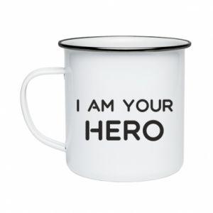 Kubek emaliowane I'm your hero