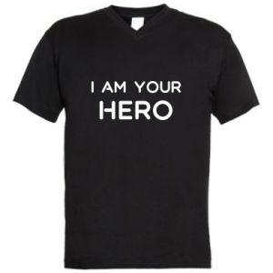 Męska koszulka V-neck I'm your hero