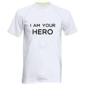 Męska koszulka sportowa I'm your hero