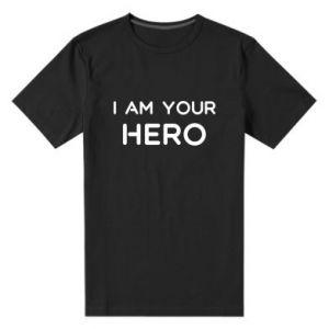 Męska premium koszulka I'm your hero