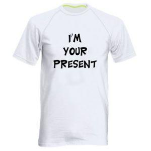 Men's sports t-shirt I'm your present
