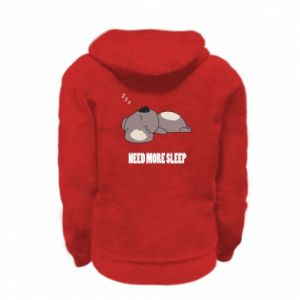 Kid's zipped hoodie % print% I need more sleep