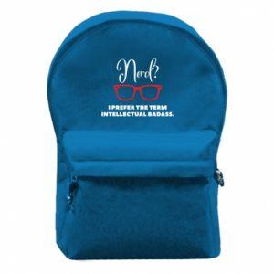 Plecak z przednią kieszenią I prefer the term intellectual badass