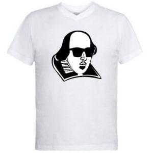 Men's V-neck t-shirt I put the lit in literature