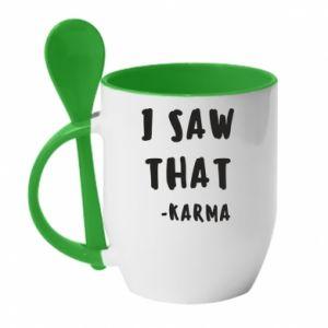 Kubek z ceramiczną łyżeczką I saw that. - Karma