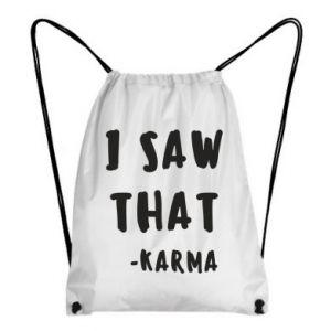 Plecak-worek I saw that. - Karma