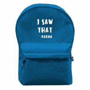 Plecak z przednią kieszenią I saw that. - Karma