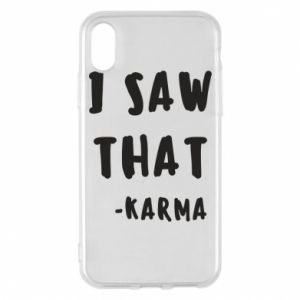 Etui na iPhone X/Xs I saw that. - Karma
