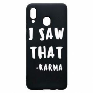 Etui na Samsung A20 I saw that. - Karma