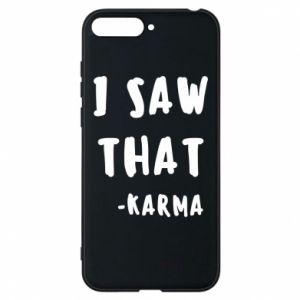Etui na Huawei Y6 2018 I saw that. - Karma