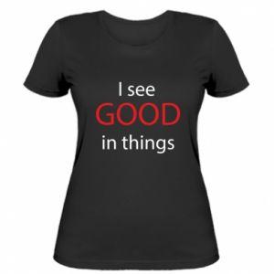 Damska koszulka I see good in things
