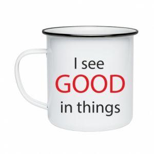 Kubek emaliowane I see good in things