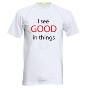 Męska koszulka sportowa I see good in things