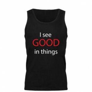 Męska koszulka I see good in things