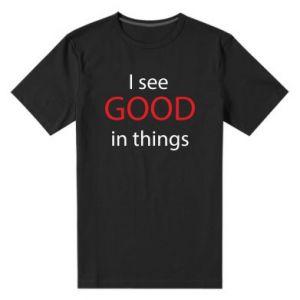 Męska premium koszulka I see good in things