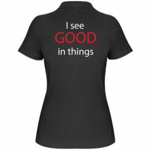 Damska koszulka polo I see good in things