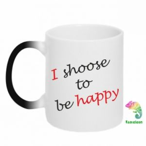 Kubek-kameleon I shoose to be happy