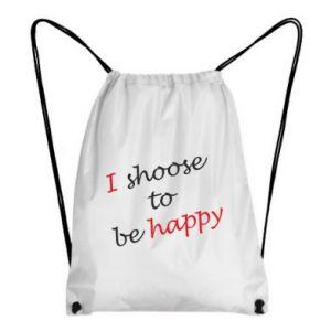 Plecak-worek I shoose to be happy