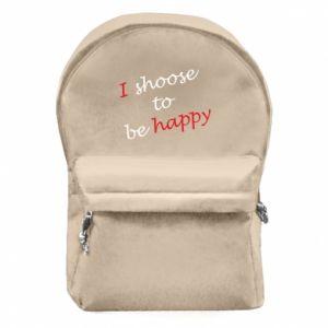 Plecak z przednią kieszenią I shoose to be happy