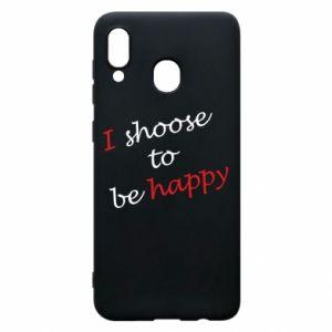 Etui na Samsung A20 I shoose to be happy