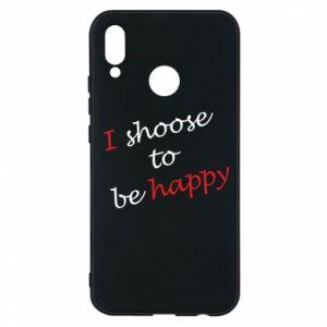 Etui na Huawei P20 Lite I shoose to be happy