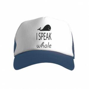 Kid's Trucker Hat I speak whale