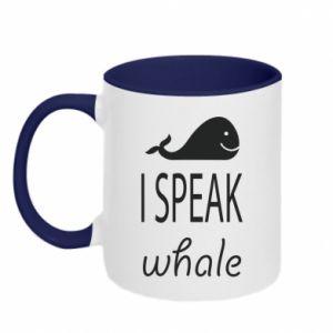 Kubek dwukolorowy I speak whale