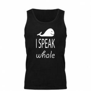 Męska koszulka I speak whale