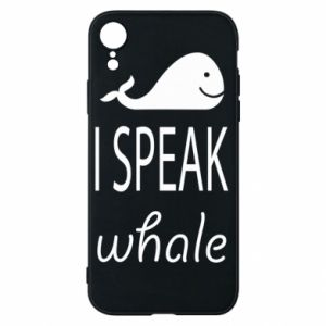 Etui na iPhone XR I speak whale