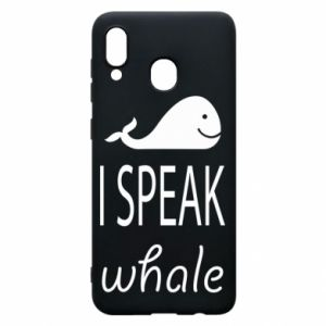 Etui na Samsung A30 I speak whale