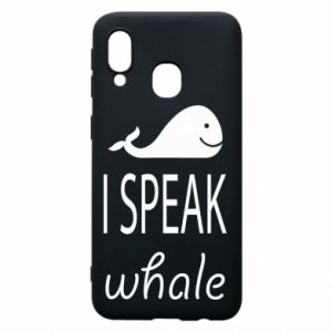 Etui na Samsung A40 I speak whale
