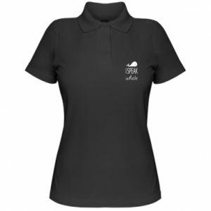 Damska koszulka polo I speak whale