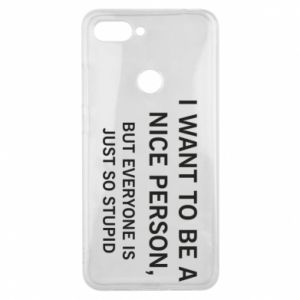 Etui na Xiaomi Mi8 Lite I want to be a nice person