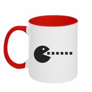 Two-toned mug I want to eat you