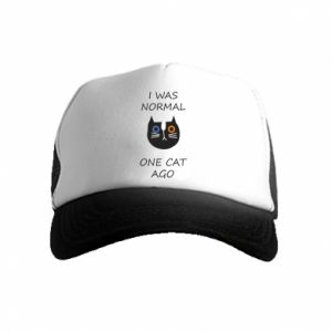 Kid's Trucker Hat I was normal one cat ago
