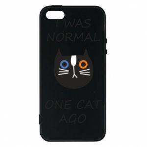Etui na iPhone 5/5S/SE I was normal one cat ago