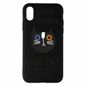 Etui na iPhone X/Xs I was normal one cat ago