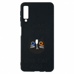 Etui na Samsung A7 2018 I was normal one cat ago