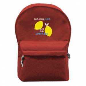 Plecak z przednią kieszenią I was served lemons but i made lemonade