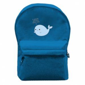 Plecak z przednią kieszenią I whale always love you