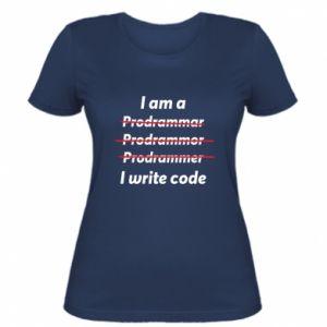 Women's t-shirt I write code