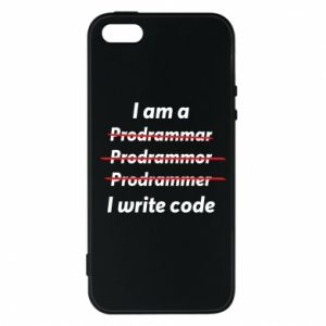 Phone case for iPhone 5/5S/SE I write code