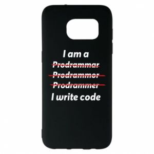 Etui na Samsung S7 EDGE I write code