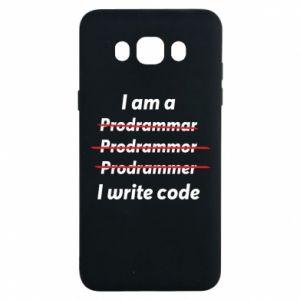 Etui na Samsung J7 2016 I write code