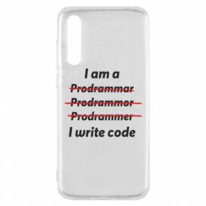 Etui na Huawei P20 Pro I write code