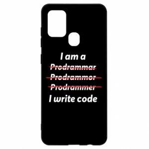 Etui na Samsung A21s I write code