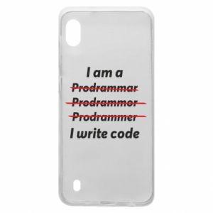 Etui na Samsung A10 I write code