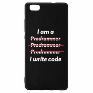 Etui na Huawei P 8 Lite I write code