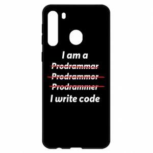 Etui na Samsung A21 I write code