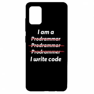 Etui na Samsung A51 I write code